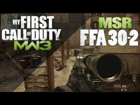 MW3 | [30-2] MSR Quick Scope FFA Fast Online Gameplay Commentary | HD