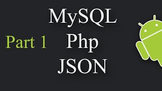 Insert Data Into a Database using Android, PHP, MySQL, JSON Part 1/2