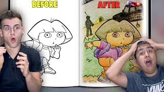 When Adults Color Children's Books!