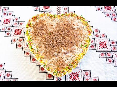 Торт из печенья БЕЗ ВЫПЕЧКИ Сердечко просто и вкусно Как приготовить торт Торт БЕЗ ВИПІЧКИ з печива