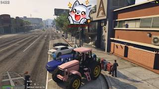 Eugene Gets Chased By Police In Tractor | Nopixel