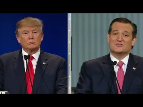 Cruz, Trump debate 'New York values'