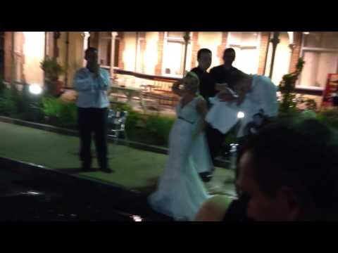 Wedding day ice bucket challenge