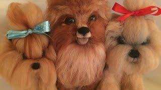 ШКОЛА  ФЕЛТИНГА Татьяны Шелиповой  /ЙОРИК -- СУХОЕ  ВАЛЯНИЕ  /  How to Make Felt Dog/毡玩具