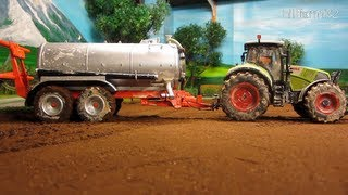 RC TRACTOR at spring work on wet ground - Rc toy action