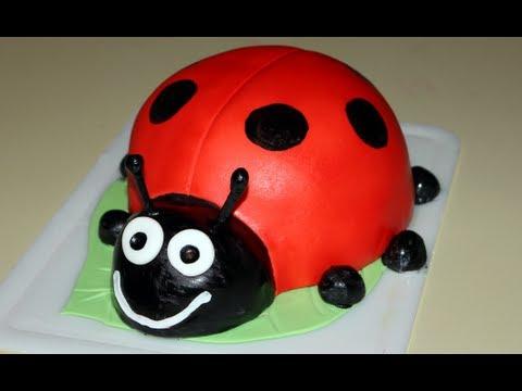 Lady Bug Cake How To Youtube