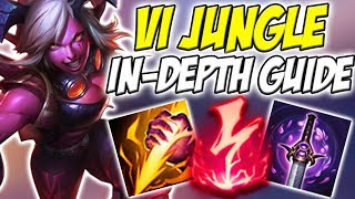 GUIDE ON HOW TO PLAY VI JUNGLE IN SEASON 8! THIS DAMAGE IS ACTUALLY INSANE! - League of Legends