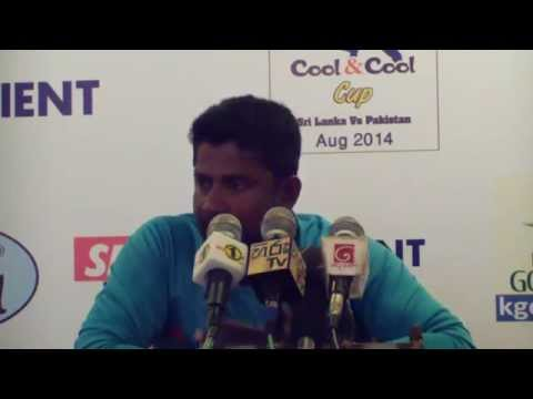 Rangana Herath at the press conference - 1st Test Match in the Pakistan tour of Sri Lanka 2014