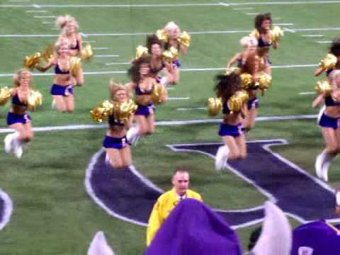 Minnesota Vikings Cheerleaders doing AC/DC Video