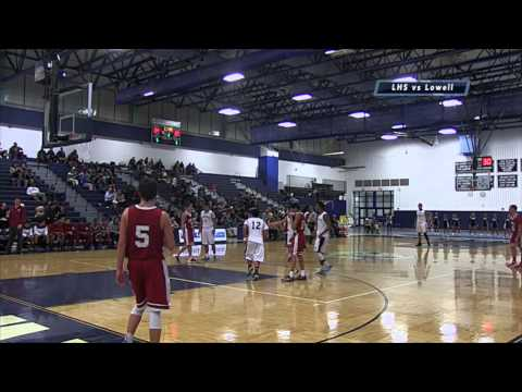 LHS Boys Basketball vs Lowell Feb 2014