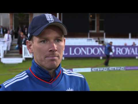 Eoin Morgan reacts to controversial Ben Stokes dismissal at Lord's
