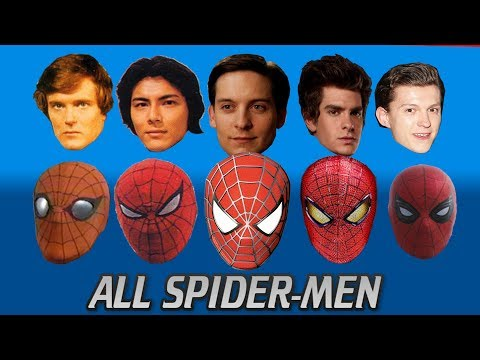 EVERY SPIDER-MAN ACTOR EVER (UPDATED) From the 70s to Tom Holland's Spider-Man Homecoming 2017 thumbnail