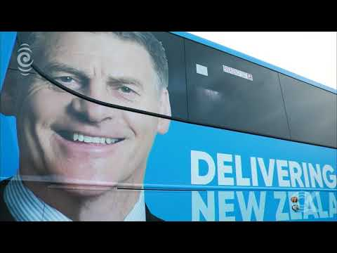 Bill English arrives in Auckland ahead of election