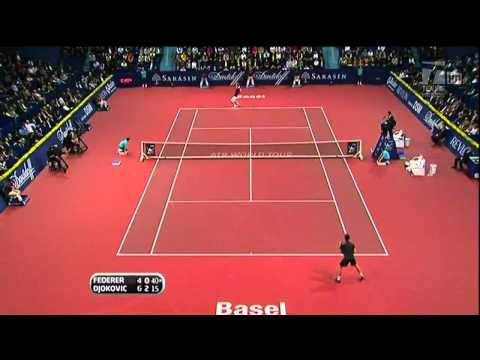Roger Federer VS Novak Djokovic -- Basel 2009 Final [HD] Highlights