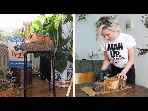 Ikea Hack: Hocker aus Baumscheibe | DIY | Jelena