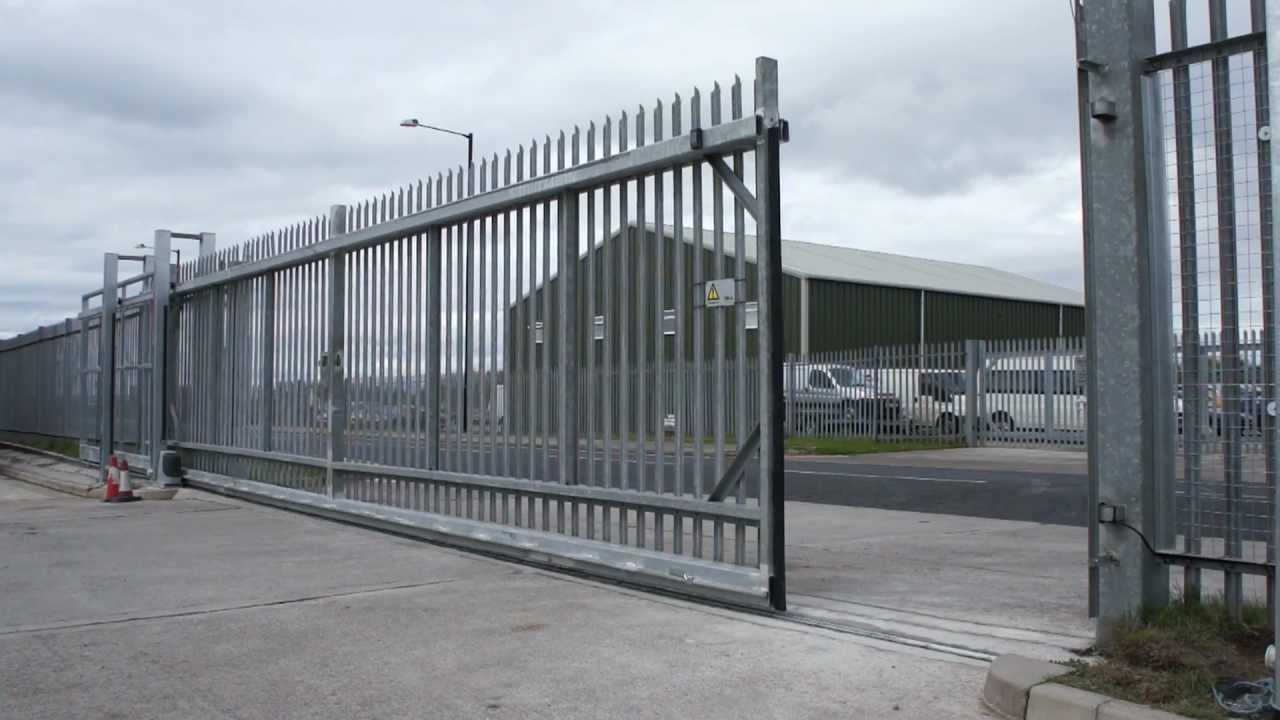 Industrial Sliding Gate Youtube