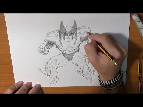 Cómo dibujar a Lobezno - Draw  Wolverine