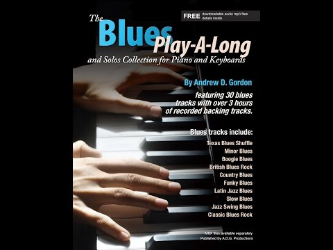 The Blues Play-A-Long And Solos Collection For Piano/Keyboards Book Or Pdf With Audio Files