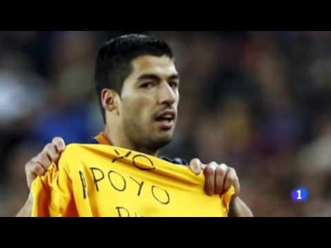 Los goles de Suárez, dedicados a Candela
