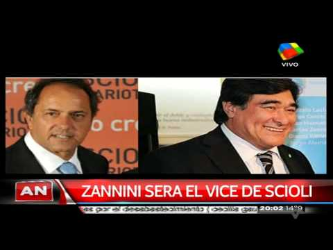 Zannini será el compañero de fórmula de Scioli