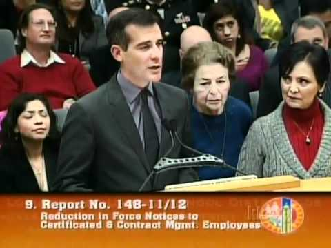 Councilman Eric Garcetti speaks in defense of Adult Education program