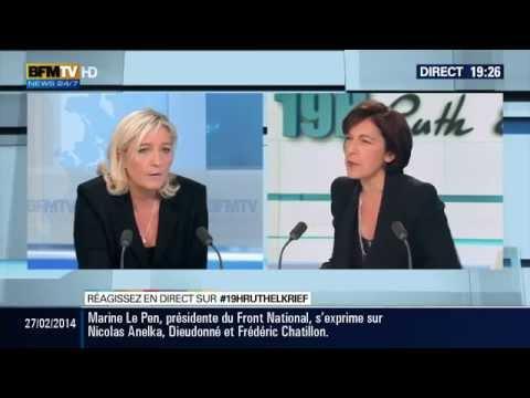 Marine Le Pen s'exprime sur Anelka, Dieudonné, Frédéric Chatillon 27-02-2014