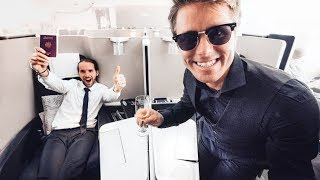 FIRST TIME IN A $20,000 FIRST CLASS SEAT!!! | VLOG² 87
