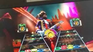 Hi playing guitar hero 3