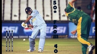 Rohit Sharma 1st T20I 50* in 2007WC