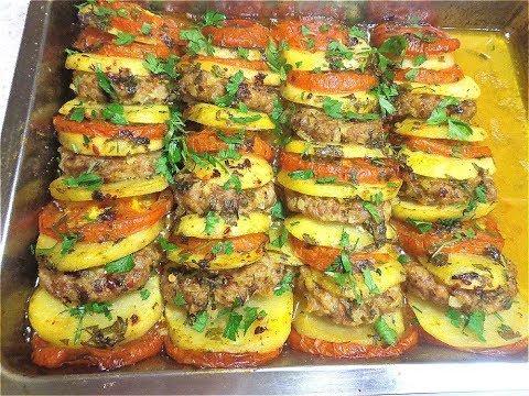 Быстрое, вкусное блюдо из картофеля и фарша. Празднично и быстро!