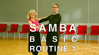 How to Dance Samba - Basic Routine1