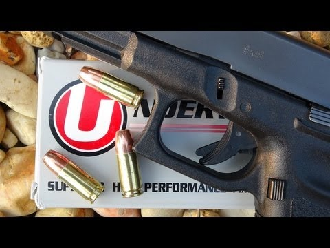 9mm +P+ Underwood 147 gr Gold Dot Ammo Gel Test