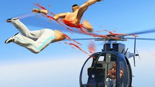 HELICOPTER CUT ME IN HALF! (GTA 5 Funny Moments)