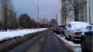 e-bike moscow riding #4 (the last winter day)