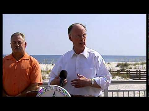 Governer Robert Bentley (after aerial tour of the Gulf State Park wildfire)