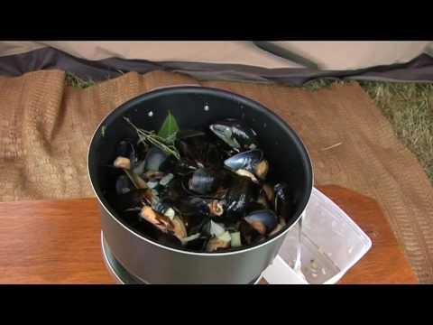 Koken op de camping: mosselen op Normandische wijze