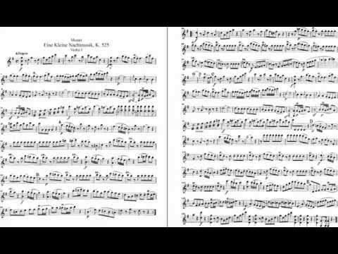 Eine Kleine Nachtmusik, 1st movement: Allegro ( with sheet music 1st Violin ) :D