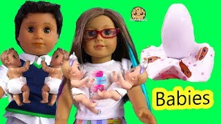 Color Changing Surprise Blind Bag Babies with American Girl + Boy Video