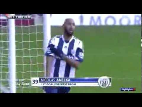 Nicolas Anelka celebra un gol con un saludo antisemita