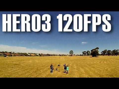 GoPro Hero3 Black Edition 720p @ 120FPS Test Footage from Bixler FPV Aircraft
