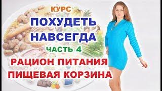 Как ПОХУДЕТЬ НАВСЕГДА ч4. Питание для похудения и пищевая корзина. ПП