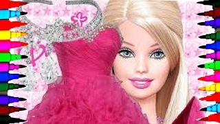 BARBIE with Seashells and Pretty Dress BEST LEARNING Coloring Book l Pages - Videos For Children