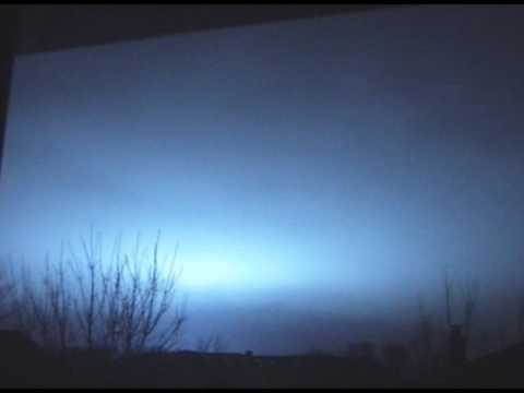 Weird Blue Lightning