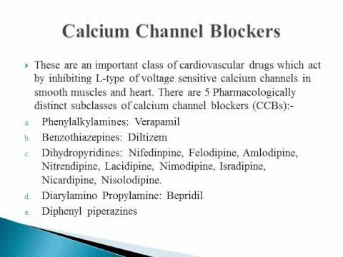 calcium channel blockers mechanism of action