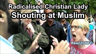 Lizzie Schofield Obnoxious Shouting Hate Preaching @ Adnan Rashid - Speakers Corner