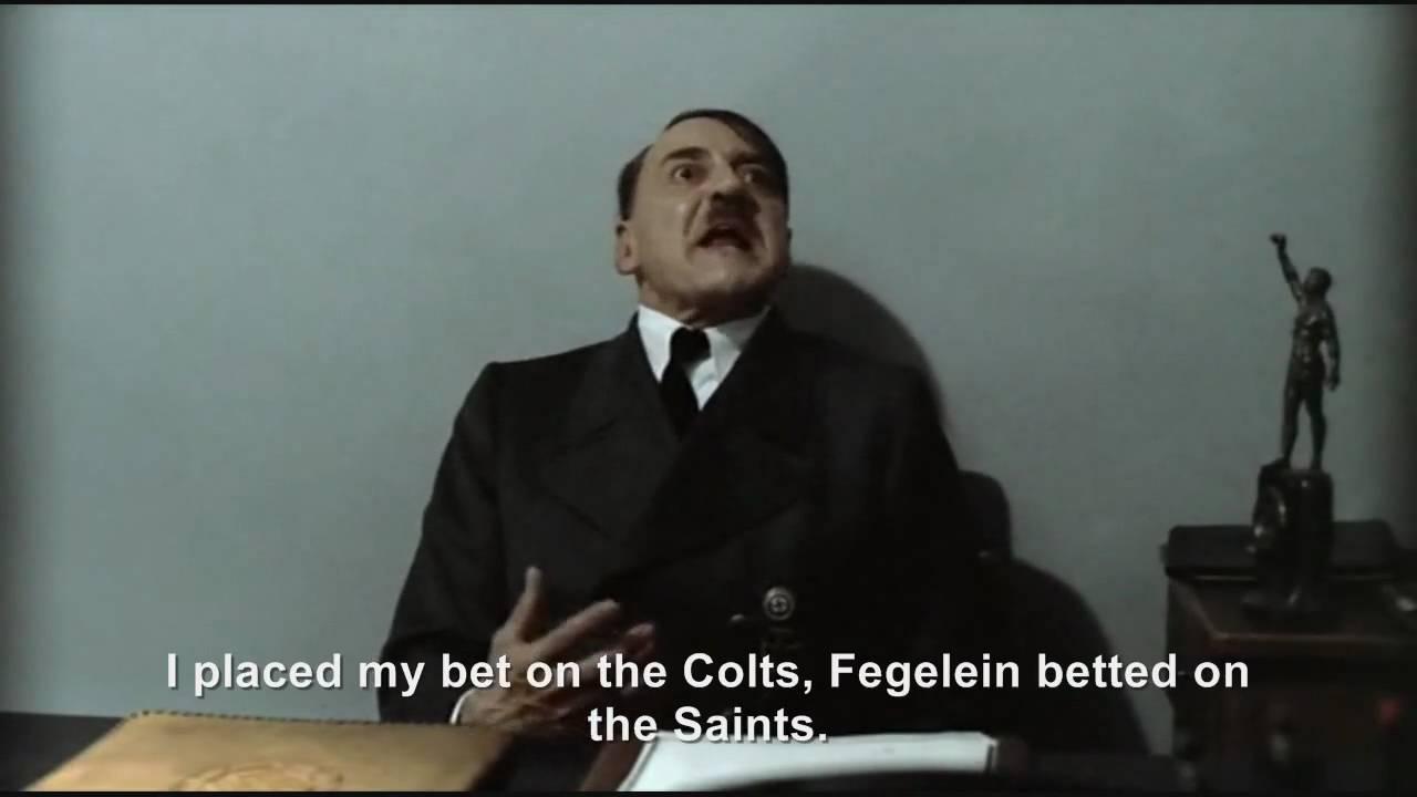 Hitler is informed the New Orleans Saints won the Super Bowl XLIV
