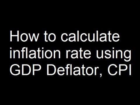 inflation rate formula