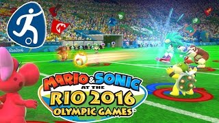 Exclusive Soccer / Football Gameplay - WiiU - Mario & Sonic at the Rio 2016 Olympic Games