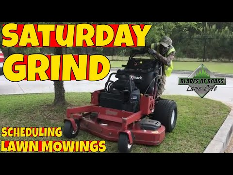 Lawn mowing business schedule that works after years of trials and failures