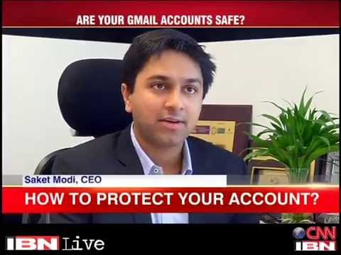 Saket Modi talks about leaked passwords on IBN Live